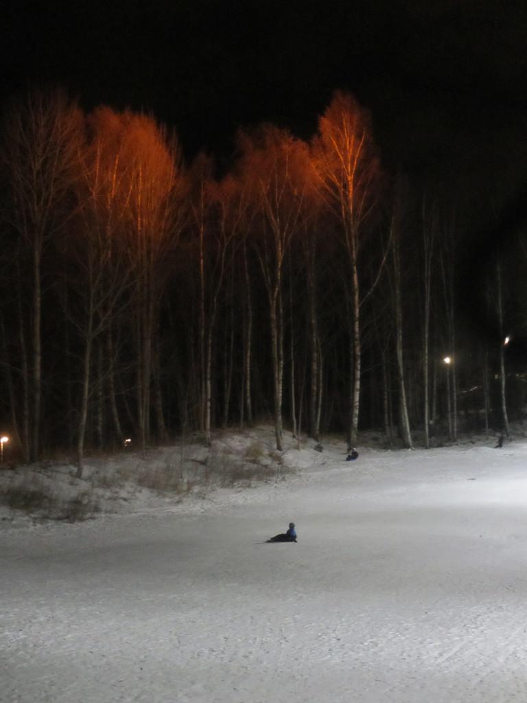 Alltid vackert väder i ljus med snö